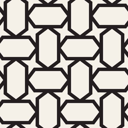 Vector seamless geometric pattern. Simple abstract lines lattice. Repeating elements stylish background