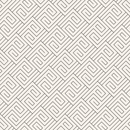 Abstract pattern with thin lines. Vector seamless geometric tiling background. Black and white linear lattice design. Çizim