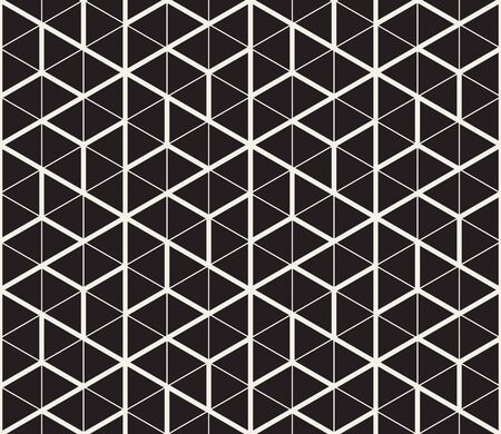 Vector seamless geometric pattern. Abstract thin lines lattice. Simple monochrome triangle shapes trellis.