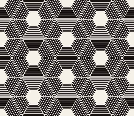 Vector seamless pattern. Modern stylish abstract texture. Repeating geometric tiles Çizim