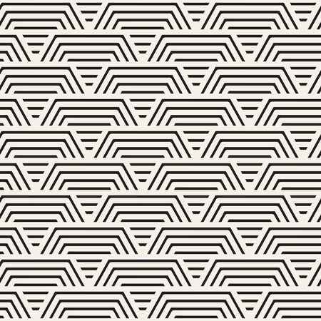 Vector seamless pattern. Modern stylish abstract texture. Repeating geometric tiles from striped elements Çizim