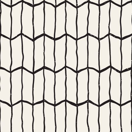 Vector seamless geometric pattern. Hand drawn abstract background. Doodle lines texture.
