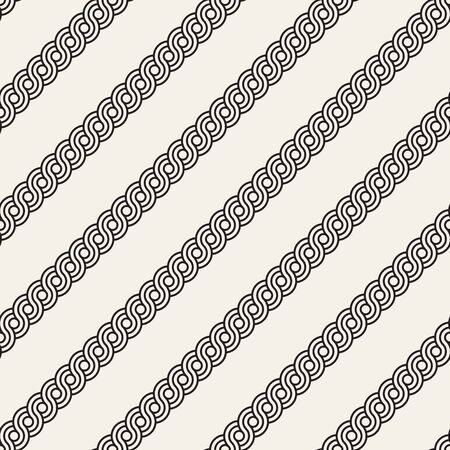 Vector seamless interlacing lines pattern. Modern stylish abstract background. Repeating geometric rounded stripes design. Reklamní fotografie - 133626078