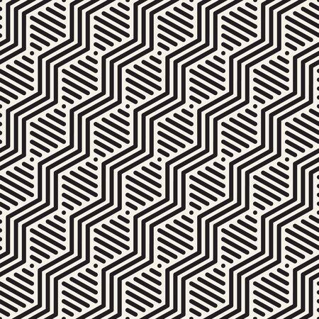 Vector seamless geometric pattern. Modern slanted zigzag texture. Linear graphic design. Reklamní fotografie - 133626520