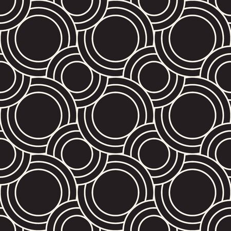 Vector seamless wavy stripes pattern. Modern stylish texture. Repeating abstract circles background. Monochrome geometric rounded thin lines. Reklamní fotografie - 133626594