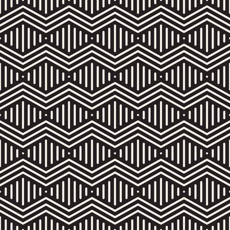 Vector seamless geometric pattern. Modern zigzag simple texture. Linear rounded stripes graphic design. Reklamní fotografie - 133626629