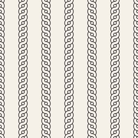 Vector seamless pattern. Monochrome bold wavy stripes background. Decorative geometric interlaced vertical lines. Reklamní fotografie - 133626720
