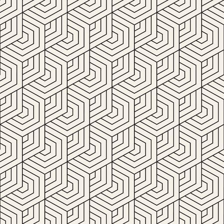 Vector seamless pattern. Modern stylish texture. Repeating geometric tiles from thin lines. Contemporary graphic design.