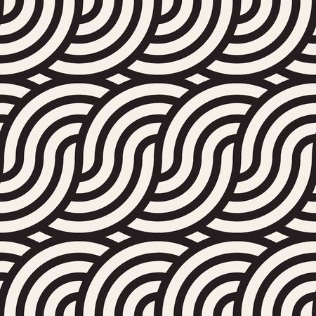 Vector seamless pattern. Concentric bold circles. Geometric striped ornament. Round lines stylish background. Reklamní fotografie - 133626729