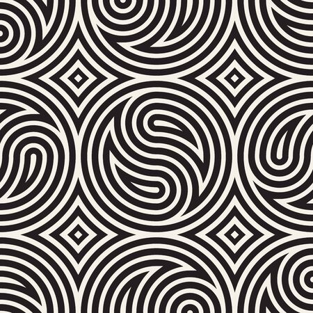 Seamless vector pattern geometric background. Geometric floral lines lattice. Rounded repeating abstract design elements. Reklamní fotografie - 133626751
