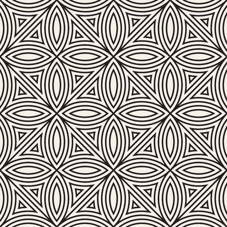 Seamless pattern with symmetric lines ornament. Elegant vector decorative background. Abstract geometric lattice design. Reklamní fotografie - 133626760