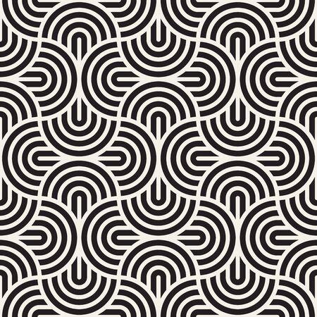 Vector seamless pattern. Concentric bold circles. Geometric striped ornament. Round lines stylish background. Reklamní fotografie - 133626811