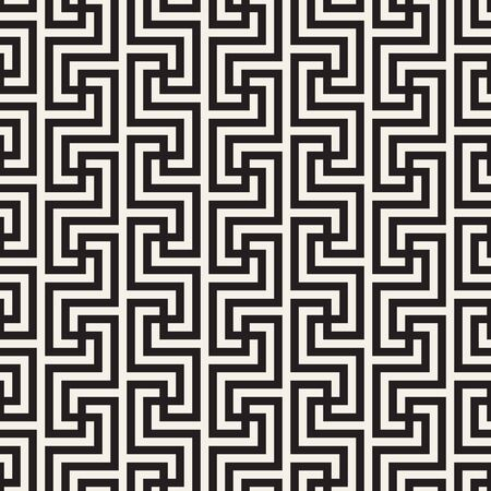 Vector seamless pattern. Modern stylish abstract texture. Repeating geometric tiles from striped elements Illusztráció