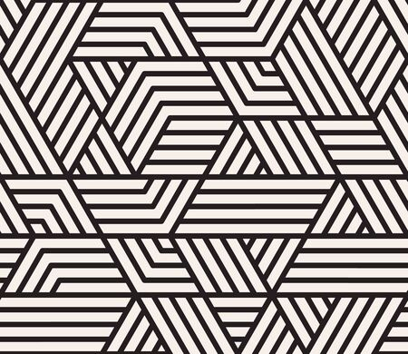 Vector seamless pattern. Modern stylish abstract texture. Repeating geometric tiles from striped elements Ilustrace