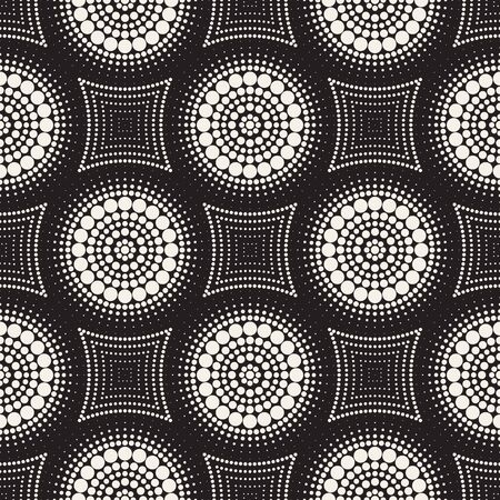 Vector seamless pattern. Modern stylish abstract texture. Repeating geometric circle and star tiles from striped decorative elements. 向量圖像