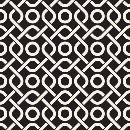 Vector seamless geometric pattern. Stylish abstract decorative background. Repeating interweaving lines design. Stock Illustratie