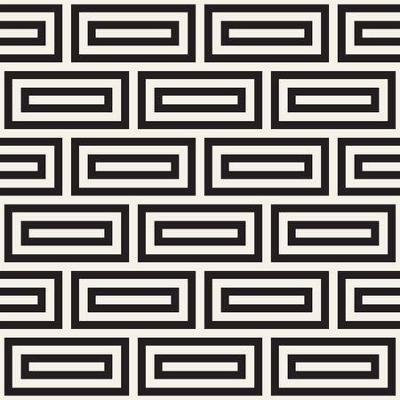 Vector seamless pattern. Repeating geometric shapes. Simple lattice lines background design. Ilustracja