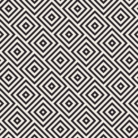Vector seamless pattern. Repeating geometric rhombus shapes. Simple lattice lines background design. Ilustracja