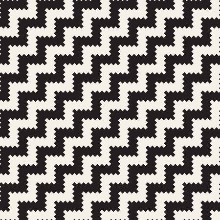 Vector seamless pattern. Abstract geometric background. Stylish ethnic design with zigzag diagonal lines. 矢量图像