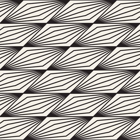 Vector seamless stylish pattern. Geometric striped ornament. Optical illusion thin lines background.