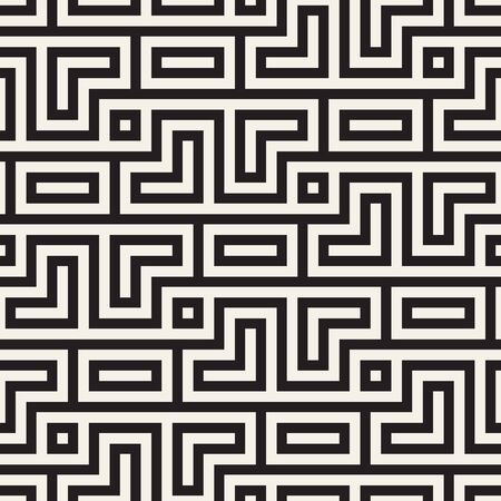 Vector seamless stylish pattern. Geometric striped ornament. Simple lattice lines background.