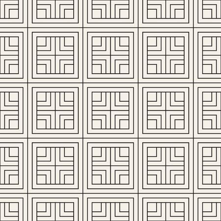 Vector seamless pattern. Modern stylish abstract texture. Repeating geometric cross tiles