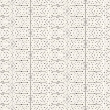 Vector seamless pattern. Modern stylish abstract texture. Repeating geometric star shape tiles Illusztráció
