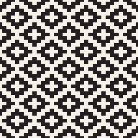 Vector seamless pattern. Ethnic stylish abstract texture. Repeating geometric tiles