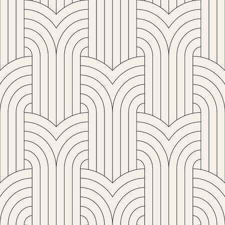 Vector seamless pattern. Repeating abstract background. Black and white geometric design. Modern stylish texture.