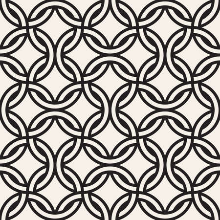 Vector seamless chain pattern. Interweaving thin lines abstract background. Geometric waved trellis design.