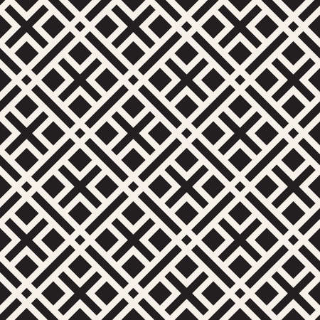 Vector seamless pattern. Repeating geometric lines. Abstract lattice background design. Vecteurs