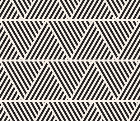 Vector seamless pattern. Modern stylish abstract texture. Repeating geometric triangular stripes