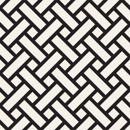 Vector seamless pattern. Repeating geometric interlocking lines. Abstract lattice background design. 向量圖像