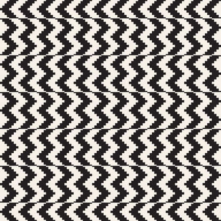 Vector seamless pattern. Ethnic stylish abstract texture. Repeating geometric zig zag tiles