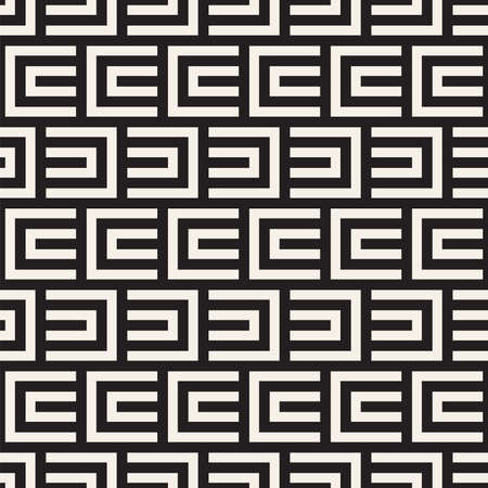 Vector seamless pattern. Repeating geometric lines. Abstract lattice background design.