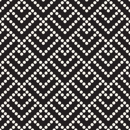 Vector seamless pattern. Dotted geometric background. Decorative abstract design.