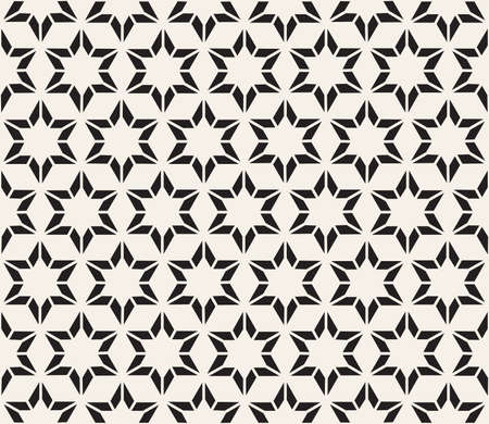 Vector seamless pattern. Modern stylish abstract texture. Repeating geometric star tiles