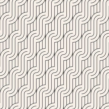 Vector seamless pattern. Modern stylish abstract texture. Repeating geometric tiles from striped elements Vettoriali