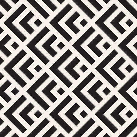 Vector seamless lines mosaic pattern. Modern stylish abstract texture. Repeating geometric tiles with stripe elements Vektoros illusztráció