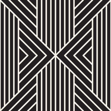 Vector seamless Art Deco pattern. Repeating abstract background. Black and white geometric design. Modern stylish texture. Stock Illustratie