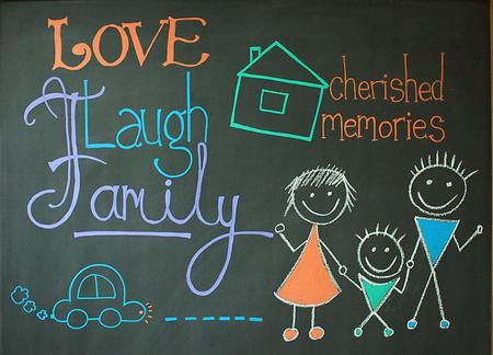 cherished: Happy Family Stock Photo