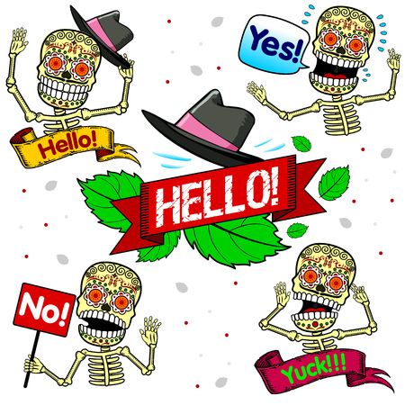 agrees: Pure emotion. Skeleton welcomes friends, agrees skeleton, the skeleton does not agree, the skeleton unpleasantly surprised