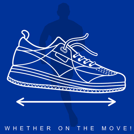 dishonesty: Sneakers, sport shoes, texture, silhouettes, sport, movement Illustration