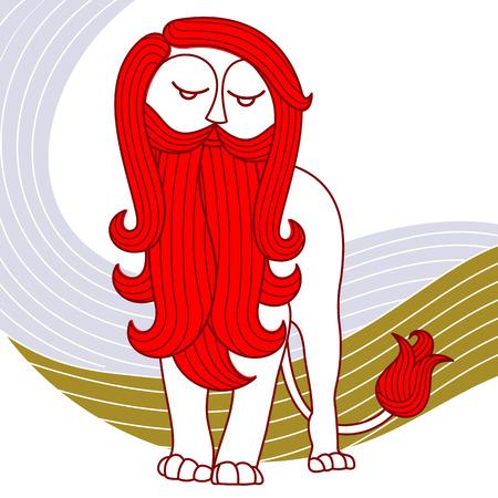 curls: Lonely lion, beard, curls, curls