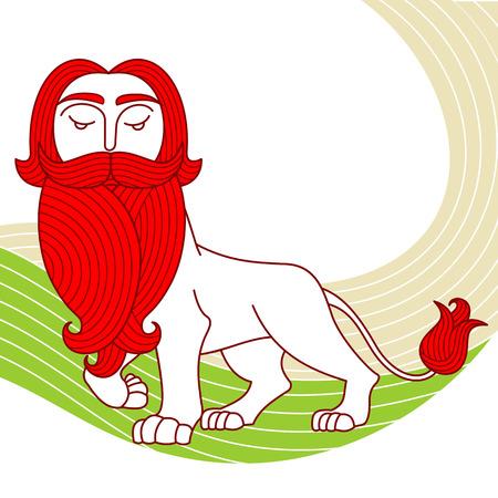 undomesticated: Lonely lion, beard, curls, curls