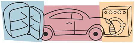 consumer goods: Consumer goods - washing machine, a car, a refrigerator