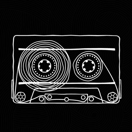 pop music: Characters pop music in the form of compact cassettes.
