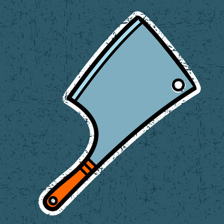 Axe for meat Vector