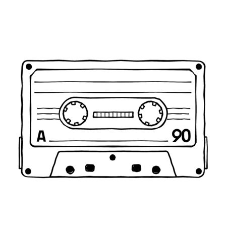 Characters pop music in the form of compact cassettes.