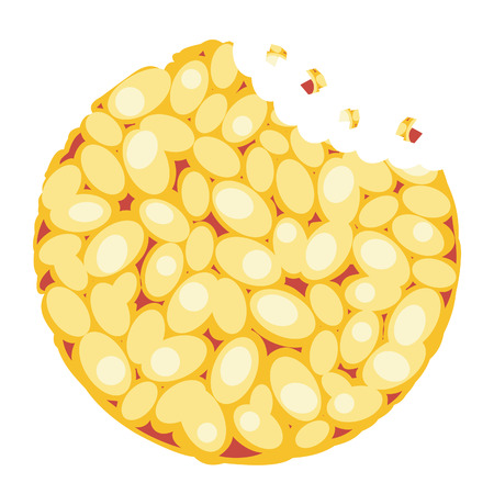 rye: Diet crispbread from wheat, rye and buckwheat Illustration